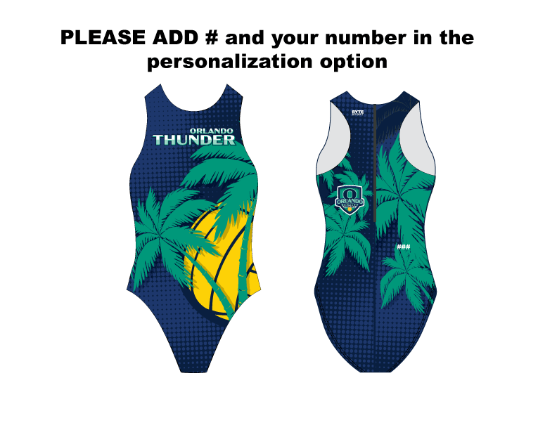 Orlando Thunder Custom Women's Water Polo Suit