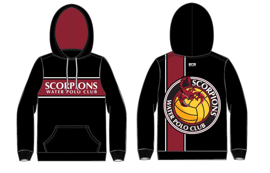 Scorpions Water Polo Club Custom Unisex Hooded Sweatshirt