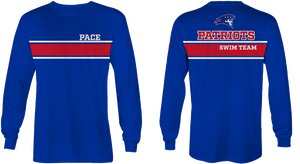 Pace High School Swim 2019 Custom Long Sleeve T-Shirt