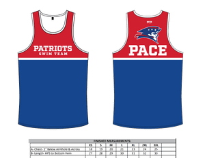 Pace High School Swim 2019 Custom Tank Top