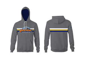 Peak Triathlon Coaching Custom Heathered Gray Unisex YOUTH Hooded Sweatshirt