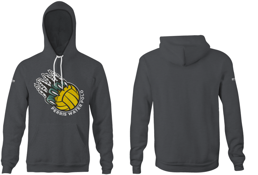 Perris High School Water Polo 2019 Custom Heathered Charcoal Unisex Adult Hooded Sweatshirt - Personalized