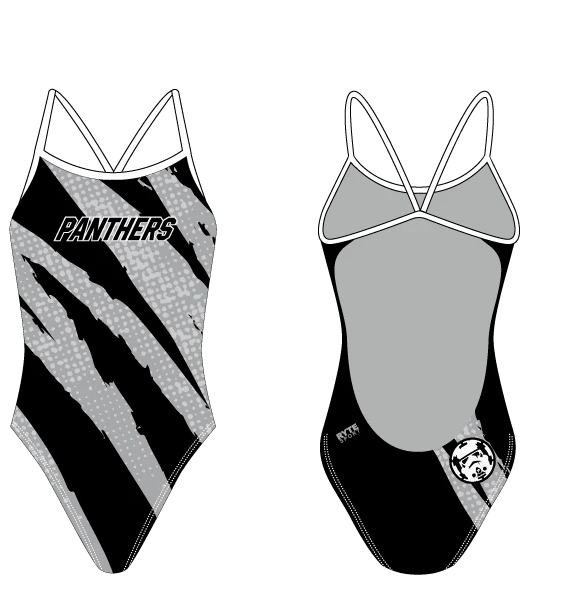 Perris High School Swim 2020 Custom Women's Open Back Thin Strap Swimsuit