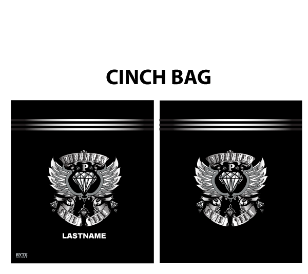 Piranhas Swim Team 2019 Custom Cinch Bag - Personalized