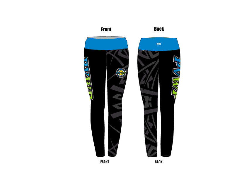Poway Valley Water Polo Club Custom Mid-Rise Full Length Leggings