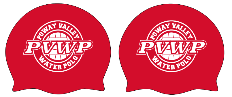 TWO - Poway Valley Water Polo Custom Goalie Latex Cap