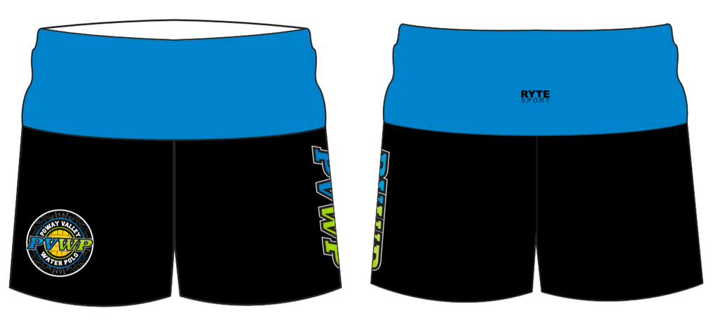 Poway Valley Water Polo Club Custom Yoga Short