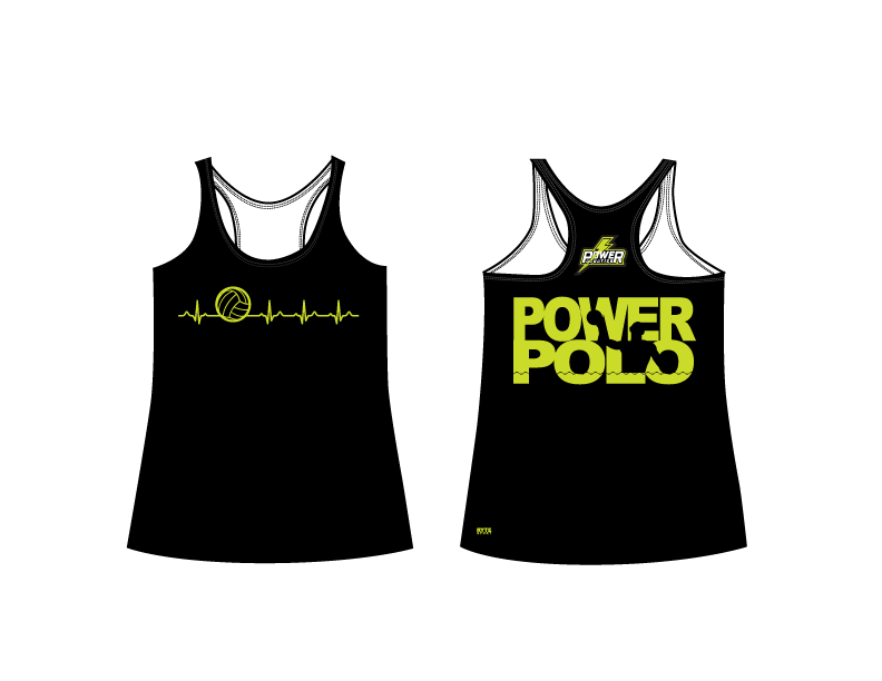 Power Aquatics 2019 Women's Black Racerback Tank Top