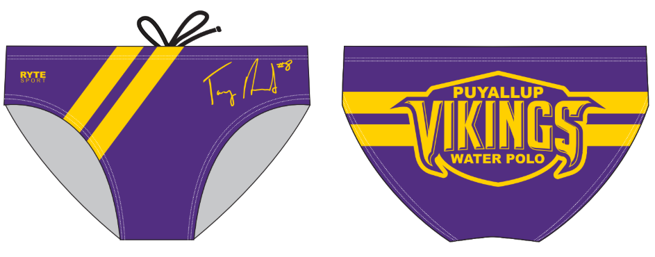 Puyallup High School Water Polo 2019 Custom Men's Water Polo Brief