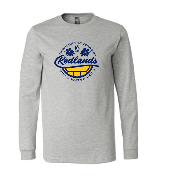 Redlands Girls Water Polo 3501 Unisex Jersey Long Sleeve Tee