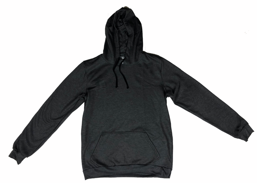 RYTE Basic Ultra Soft Heathered Charcoal Unisex Hooded Sweatshirt