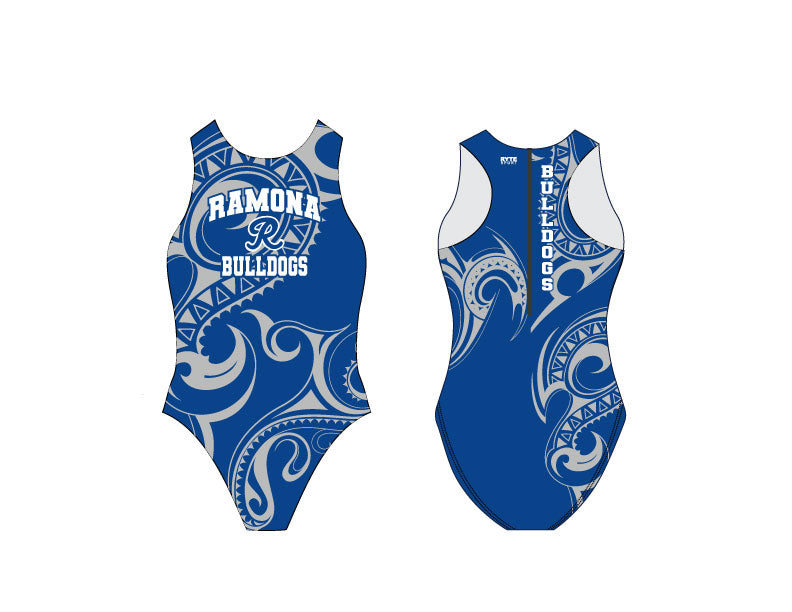 Ramona High School Custom Girls Water Polo Suit