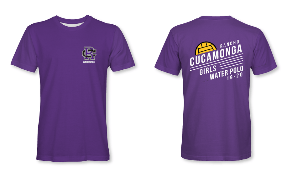Rancho Cucamonga High School Water Polo 2019 Custom Women's Fitted Crew Neck T-Shirt
