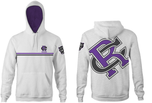 Rancho Cucamonga High School Water Polo 2019 Custom Heahtered White  Unisex Adult Hooded Sweatshirt - Personalized