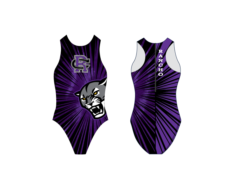 Rancho Cucamonga High School Water Polo 2019 JV/FROSH Custom Women's Water Polo Suit - Personalized