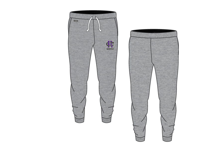 Rancho Cucamonga High School Water Polo 2019 Custom Adult Unisex Heathered Grey Jogger Sweatpants