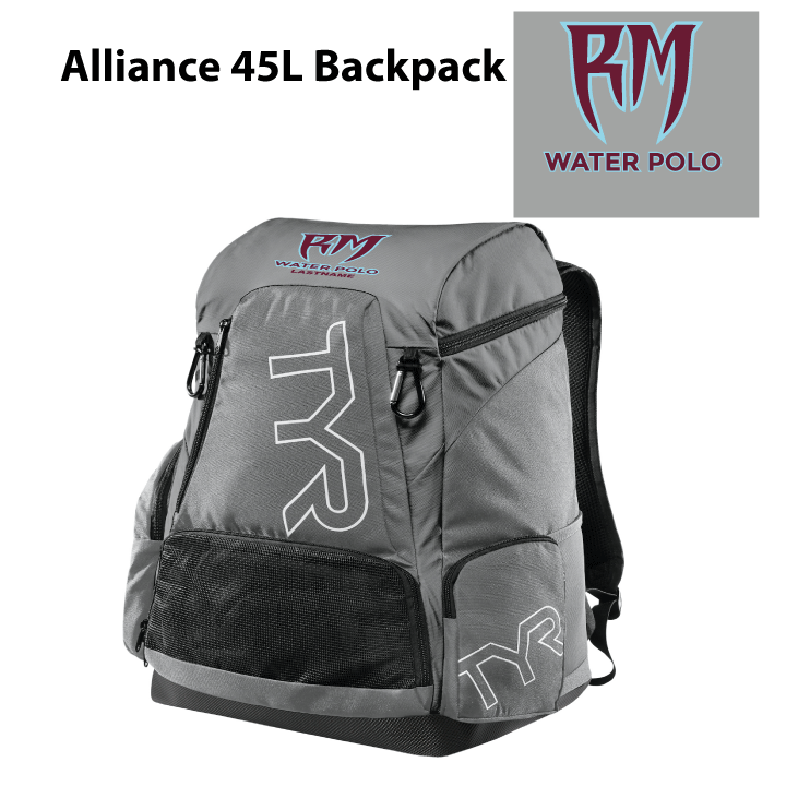 Rancho Mirage High School Water Polo 2020 Custom TYR Alliance Backpack 45L - Personalized *CLOSE DATE TO PURCHASE IS*