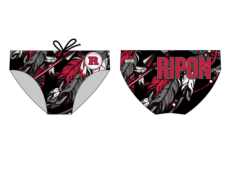 Ripon High School Water Polo Custom Men's Water Polo Brief