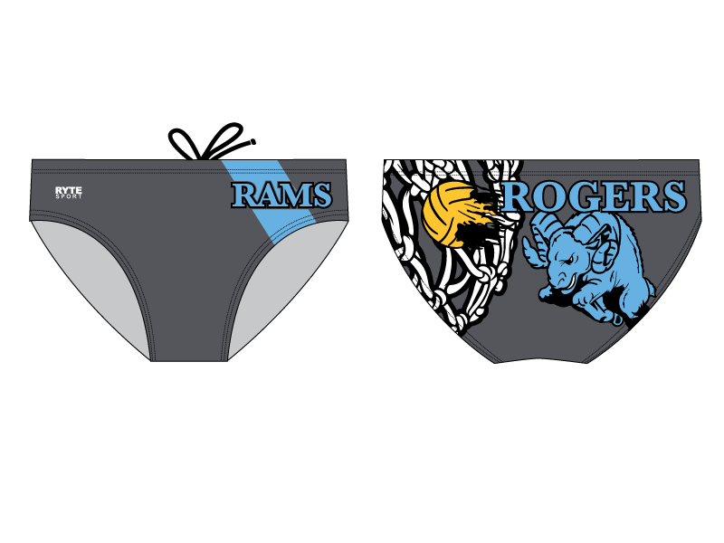 Rogers High School Water Polo 2019 Custom Men's Water Polo Brief