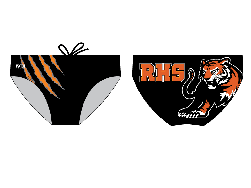 Roseville High School Boys Water Polo Custom Men's Swim & Water Polo Brief