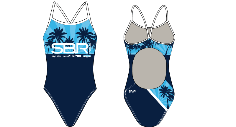 SBR Sport Custom Women's Active Back Thin Strap Swimsuit