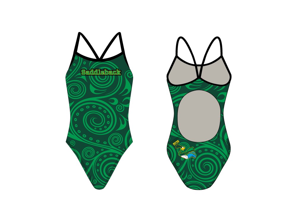 Saddleback High School 2019 Swim Team Women's Active Back Thin Strap Swimsuit