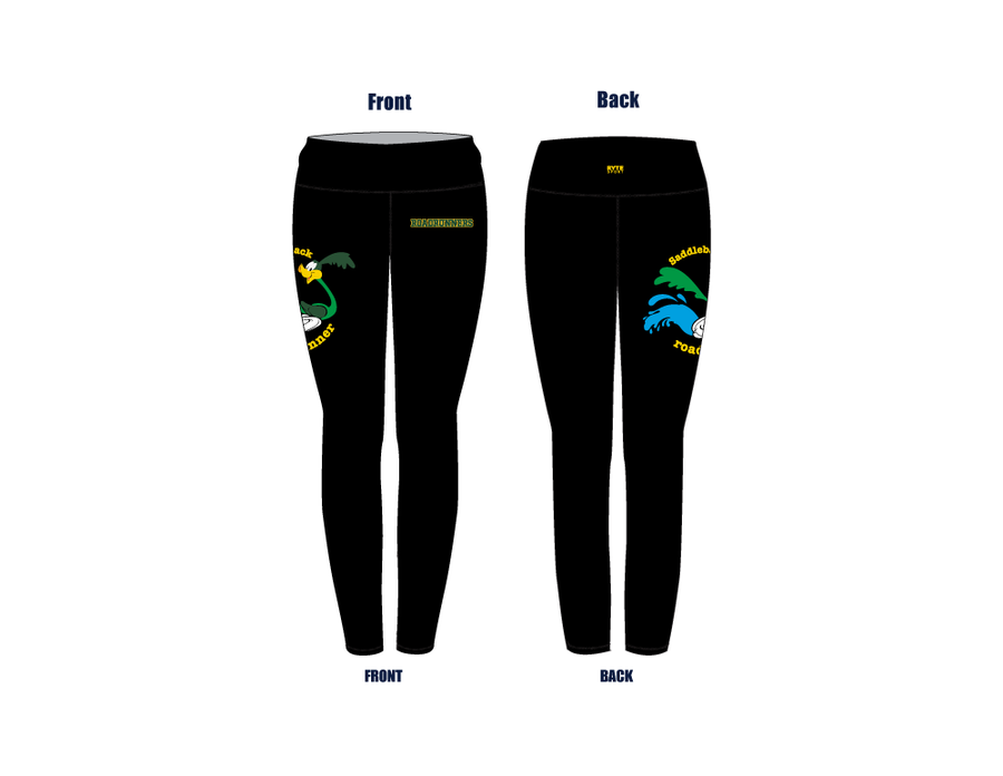 Saddleback High School Aquatics Women's Mid Rise Full Length Leggings