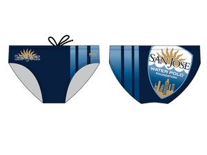 San Jose Water Polo Foundation Men's Custom Water Polo Brief