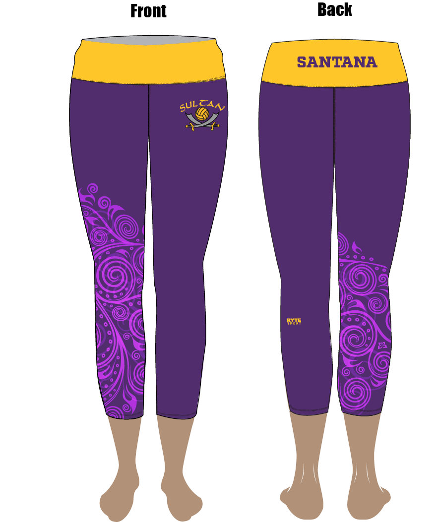 Santana High School Custom Cropped Eco-Fabric Leggings