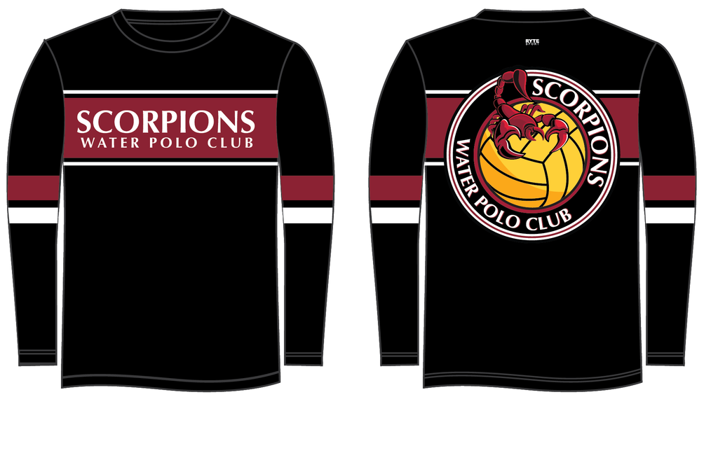Scorpions Water Polo Club Custom Long Sleeve Men's T-Shirt
