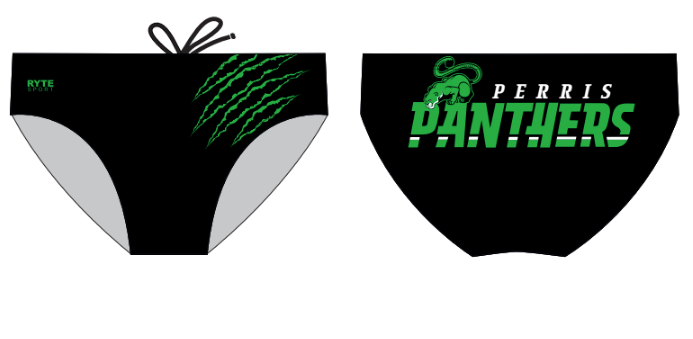Perris High School Water Polo 2020 Custom Men's Water Polo Brief