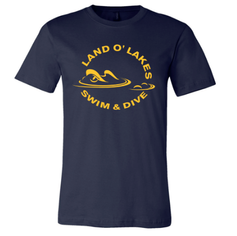 Land O' Lakes High School Swim 2020 Custom Navy Unisex Jersey Short Sleeve Tee