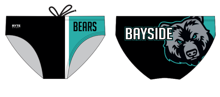 Bayside High School Swim 2020 Custom Men's Swim Brief