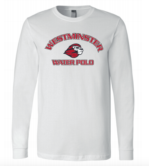 Westminster High School Water Polo 2020 Custom White Unisex Jersey Long Sleeve Tee