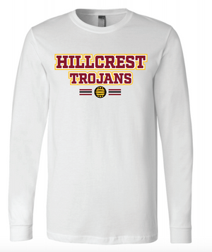 Hillcrest High School Water Polo 2020 Custom White Unisex Jersey Long Sleeve Tee