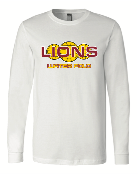 Arlington High School Water Polo 2020 Custom White Unisex Jersey Long Sleeve Tee