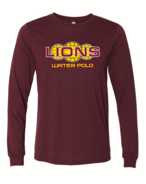 Arlington High School Water Polo 2020 Custom Maroon Unisex Jersey Long Sleeve Tee