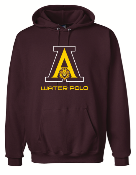 Arlington High School Water Polo 2020 Custom Maroon Ultimate Cotton Pullover Hooded Sweatshirt