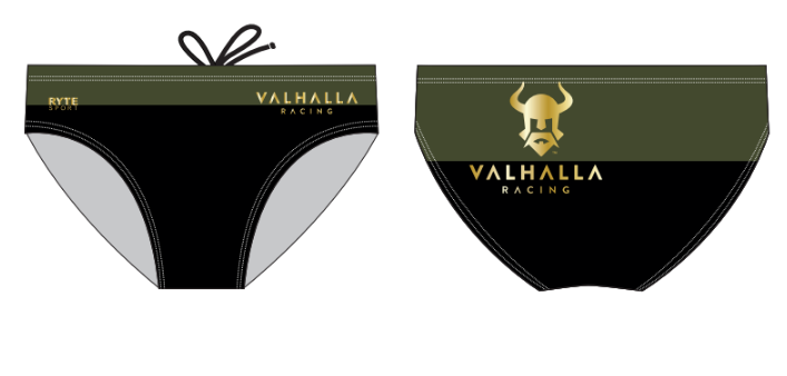 Valhalla Racing Custom Men's Swim Brief Back Logo