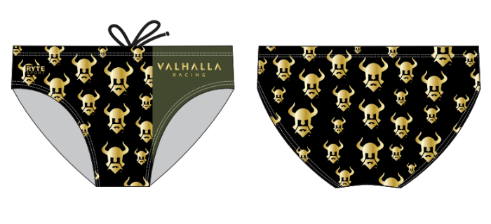 Valhalla Racing Custom Men's Swim Brief Step & Repeat