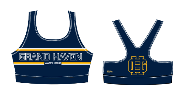 Grand Haven High School Water Polo 2021 Custom Women's Racerback Sport Bra