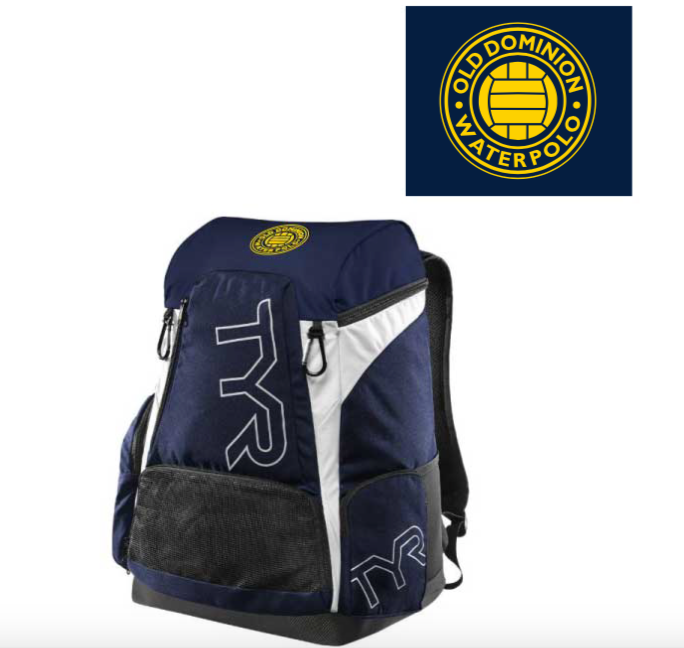 Old Dominion Water Polo 2019 Navy TYR Alliance Backpack