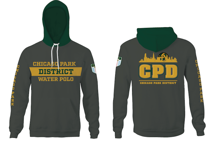 Chicago Park District Aquatics 2019 Unisex YOUTH Hooded Sweatshirt