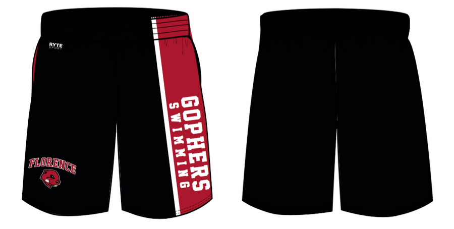 Florence High School Swim 2019 Custom Unisex Gym Short