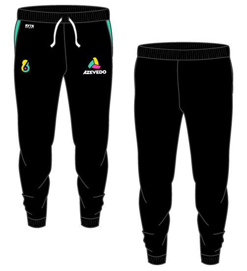 Azevedo Water Polo Black/Teal Adult Unisex Jogger Sweatpants