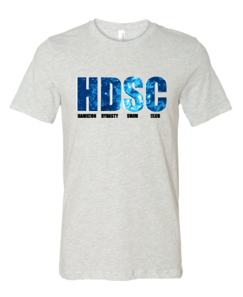 Hamilton Dynasty Swim Club Custom Adult Gray Cotton Unisex T-Shirt