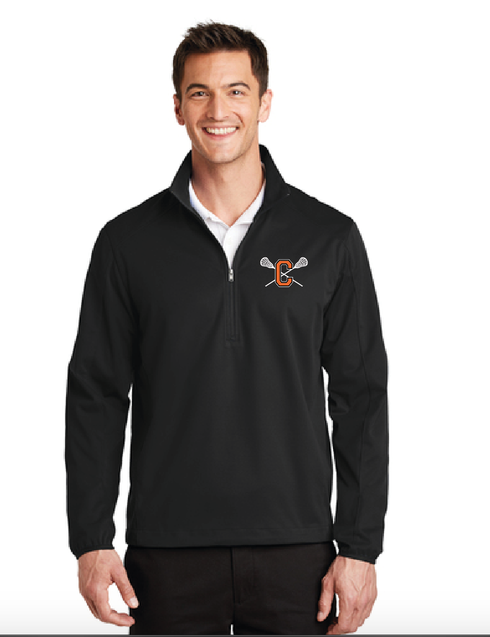 Cal High Lacrosse 1/2 Zip Soft Shell Jacket