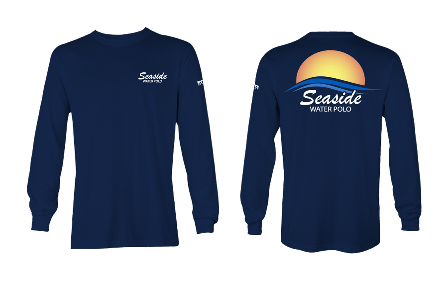 Seaside Water Polo Club Long Sleeve Men's T-Shirt Navy