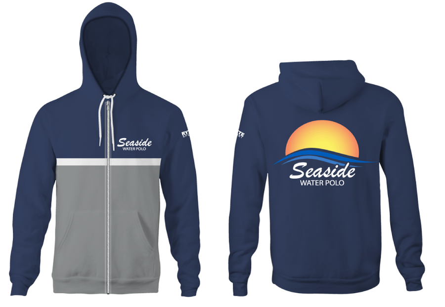Seaside Water Polo Club Adult Zip Up Hooded Sweatshirt