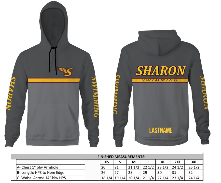 Sharon Heather Antiqued Unisex Hooded Sweatshirt